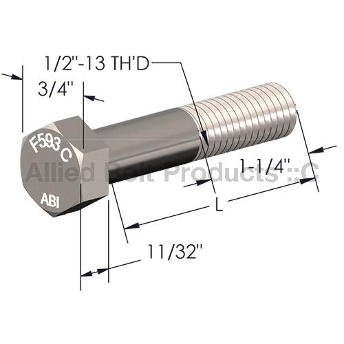 1 2 Quot X 10 Quot Hex Cap Screw Grade 2 Galvanized Allied Bolt