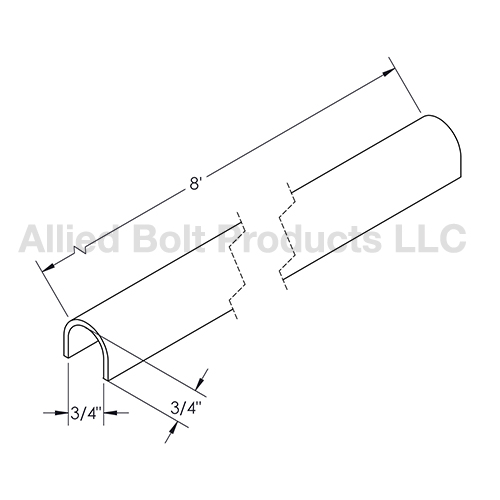 """3/4"""" X 8' GROUND WIRE MOLDING BLACK 