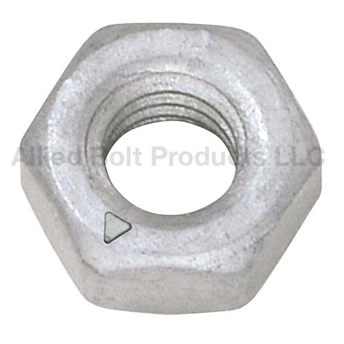 Quot hex nut grade steel galvanized allied bolt